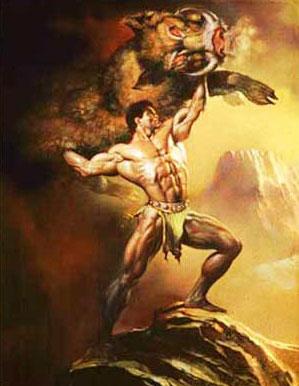 Геракл побеждает эриманфского вепря