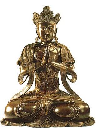 Богиня Гуань-инь.  Середина 14 в.